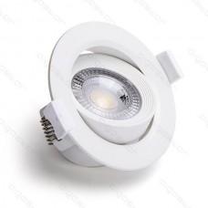 LED E6 podhľadové sviet. zapustené 5W 6500K nastaviteľný uhol svietenia