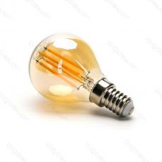 LED žiarovka E14 G45 4W AMBER Filament