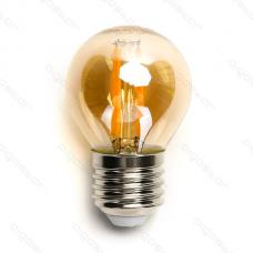 LED žiarovka E27 G45 6W AMBER Filament