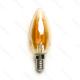 LED žiarovka E14 C35 4W AMBER Filament