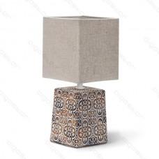 Keramická lampa hnedá s E14 päticou