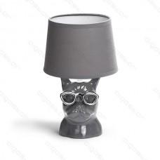 Keramická lampa buldog s E14 päticou