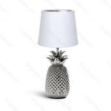 Keramická lampa strieborný ananás päticou s E14