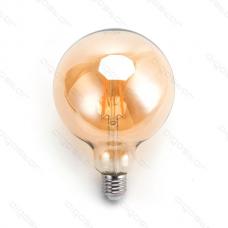 LED žiarovka E27 G125 8W AMBER Filament