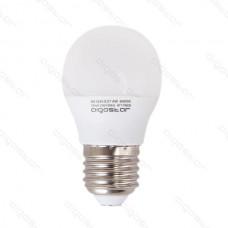 LED žiarovka E27 G45 6W teplá biela