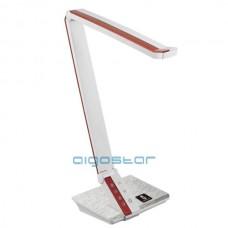 Led stolná lampa 10W ovládanie jasu cez dotykový panel bielo - červený