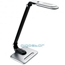 Led stolná lampa 8W ovládanie jasu cez dotykový panel strieborno - čierna