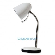 Stolná lampa biela E27 päticou
