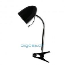 Stolná lampa čierna uchytenie na klip E27 päticou