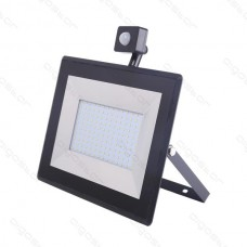 LED SLIM reflektor so senzorom 100W 6400K