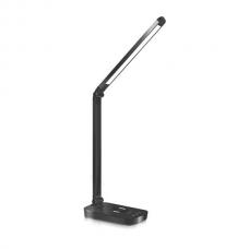 LED stolná lampa čierna 5W s bezdrôtovým nabíjaním