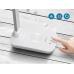 Led stolná lampa biela 5W s nabíjacím konektorom USB a  bezdrôtové nabíjanie mobilného telefónu