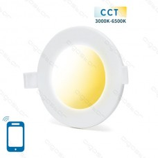 SMART LED SLIM DOWN LIGHT 6W WIFI CCT(3000K-6500K)(Cutout:105mm)