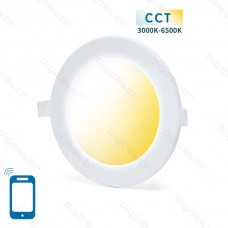 SMART LED SLIM DOWN LIGHT 12W WIFI CCT(3000K-6500K)(Cutout:155mm)