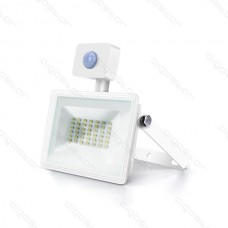 LED SLIM reflektor biely so senzorom 30W 6400K