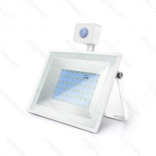 LED SLIM reflektor biely so senzorom 50W 6400K