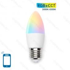 LED BULB C37 E27 7W WIFI RGB+CCT