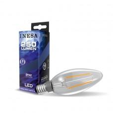 LED žiarovka E14 2W Sviečka Filament