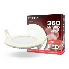LED panel Ø120mm 6W 360Lm 3000K