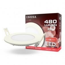 LED panel Ø120mm 6W 480Lm 6000K