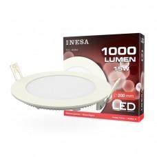 LED panel Ø190mm 15W 1000Lm 3000K