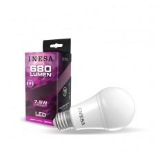 LED žiarovka E27 A60 7,5W 180° 3000K