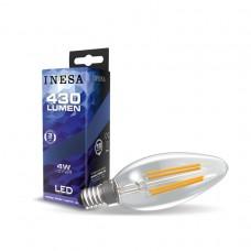 LED žiarovka E14 4W Sviečka Filament
