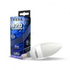 LED žiarovka E14 Sviečka 5W 160° 6500K