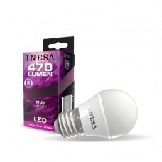 LED žiarovka E27 guľa 5W 160° 3000K
