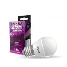 LED žiarovka E27 guľa 5W 160° 6500K