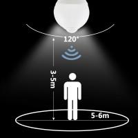 Led žiarovka E27 s senzorom